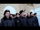 Курсанты морской академии в Севастополе поют гимн Украины после поднятия флага РФ