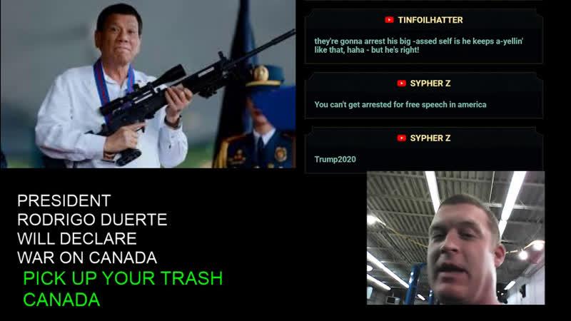 Filipino President Rodrigo Duterte will Declare War on Canada Ultimatum One Week to Take Trash Back