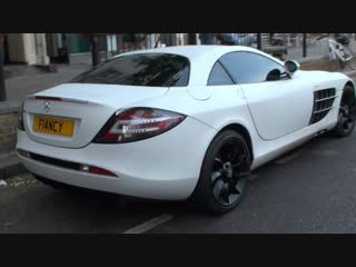 McLaren Mercedes SLR Carbon White Walkaround in Knightsbridge, London
