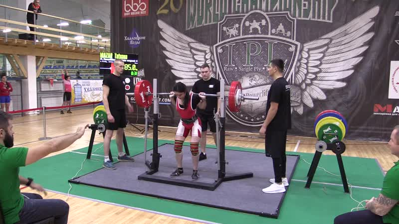 Мазар Татьяна присед в бинтах 185 кг