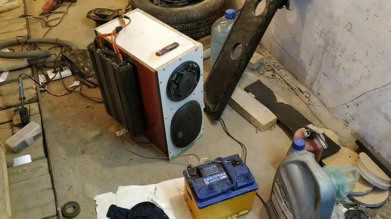 Тест 1 аккустики в гараж.