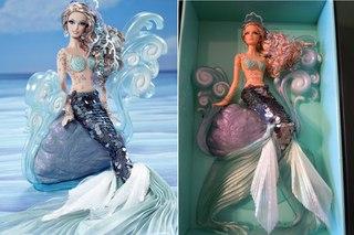 барби русалочка кукла со светящимся хвостом купить
