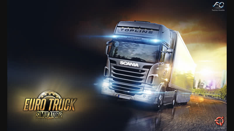 Euro Truck Simulator 2 multiplayer (Старт: Нюнесхамн - Финиш: Санкт-Петербург)