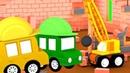 4 coches coloreados La grúa fuerte Dibujos animados español