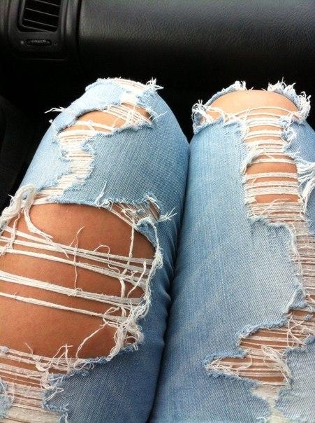 Как сделать что джинсы дальше не рвались 135