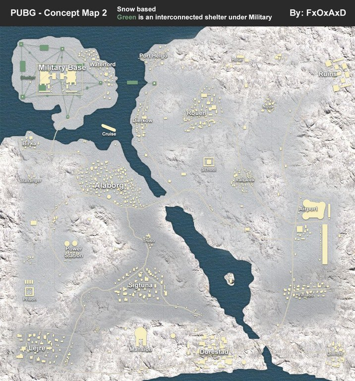Зимняя карта — PlayerUnknown's Battlegrounds PUBG