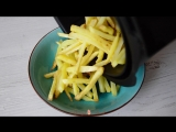 Как приготовить картошку фри без масла?