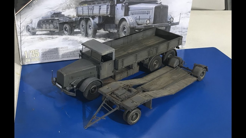 Part two Building the Das Werke Faun L900 with trailer including painting and weathering