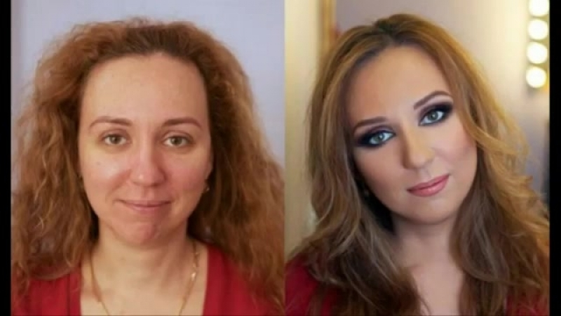 Мега секси девушки-чудеса макияжа-шок! Mega sexy girl wonders of makeup-shock