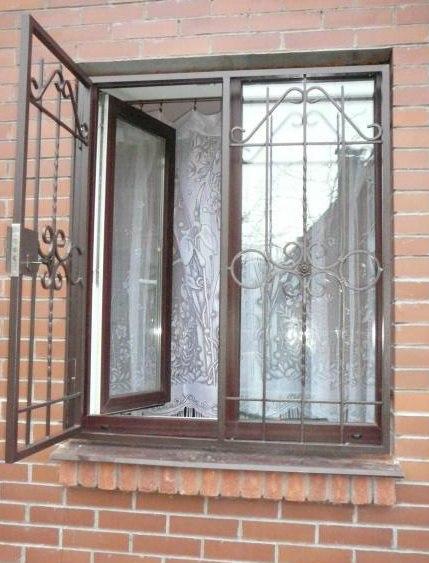 Фото противопожарных решеток на окна