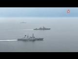 Опубликованы кадры прохода российских боевых кораблей по Ла-Маншу В составе отряда крейсер Маршал Устинов и корабль Севером