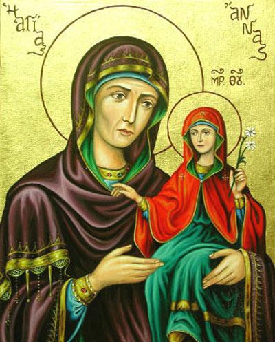 7 августа - Успение праведной Анны, матери Богородицы