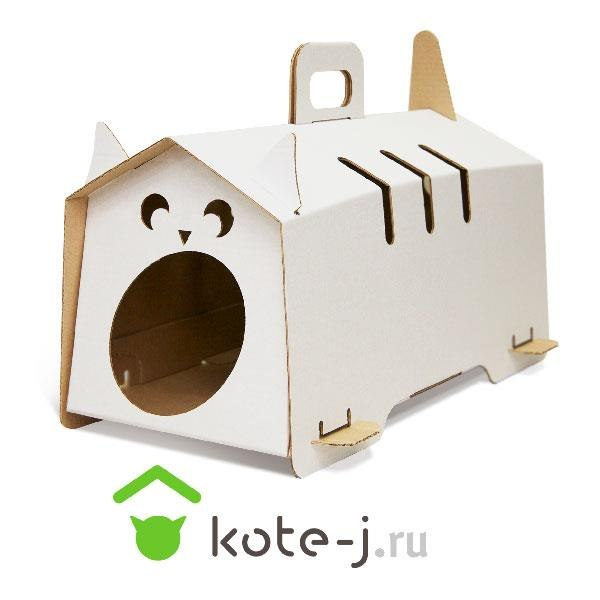 Как из картона сделать домик кошке своими руками