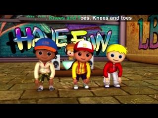 Lets Learn  Head Shoulders Knees  Toes ! With LittleBabyBum!