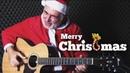 Santa playing Jingle Bells on guitar - Merry Christmas!