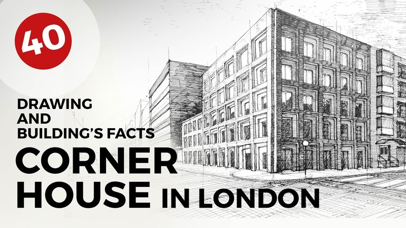 Corner House in London | Daily Architecture Sketches 40