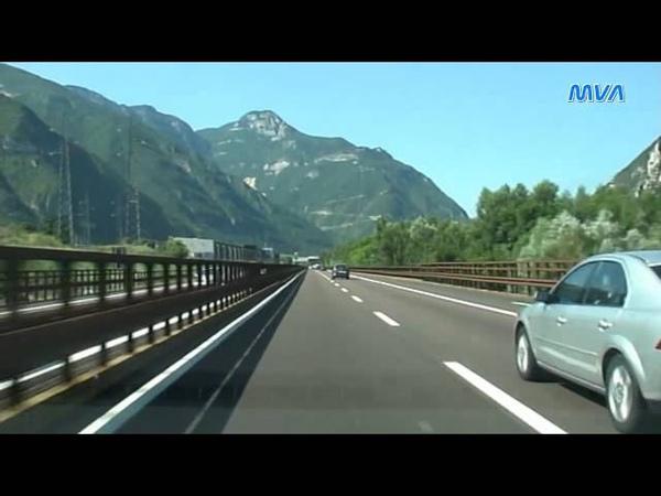 Italy Italien Autostrada A22 von Trento nach Affi (Lago di Garda Süd)