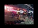 Начало пожара в ТЦ «Зимняя вишня»