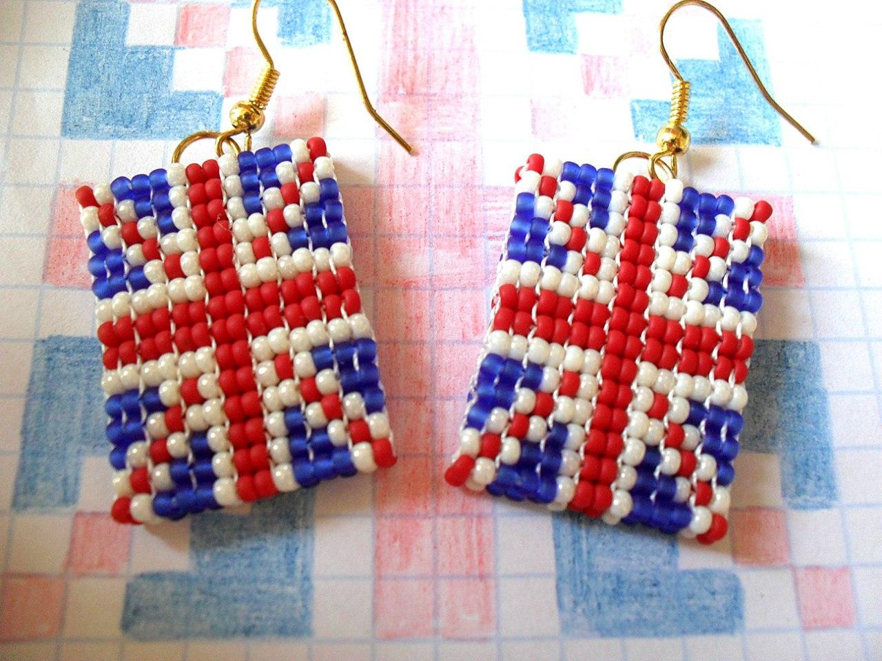 фенечка британский флаг схема