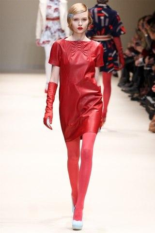 кожаное 5. красное платье из кожи.