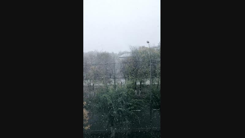 Snow in Karaganda