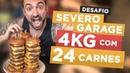 Desafio 64 - Torre com 24 carnes do Severo Garage!! (4kg, ~11.000 kcal)