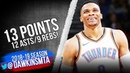 Russell Westbrook Full Highlights 2018.12.15 Thunder vs Clippers - 13-9-12 | FreeDawkins