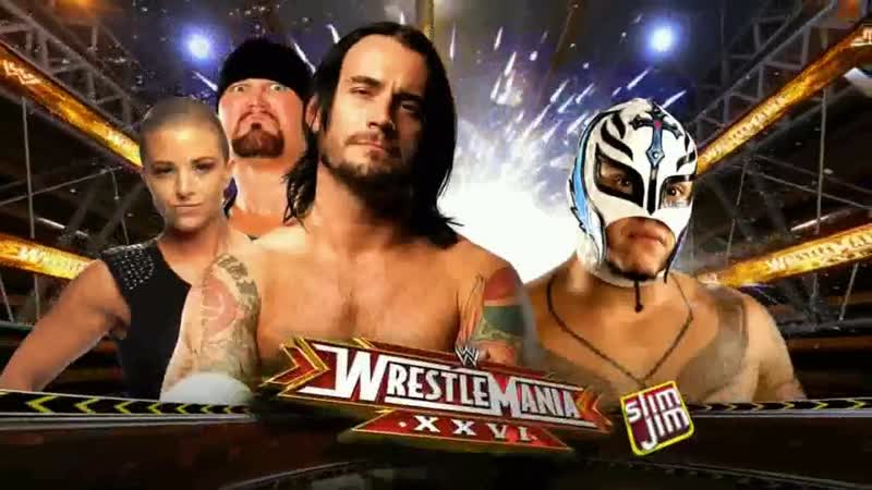 WWE Mania WrestleMania XXVI CM Punk vs Rey Mysterio