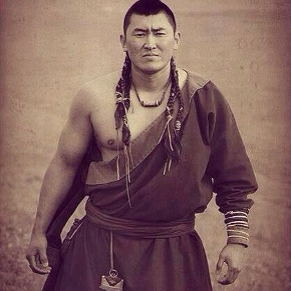 attractive mongolian man