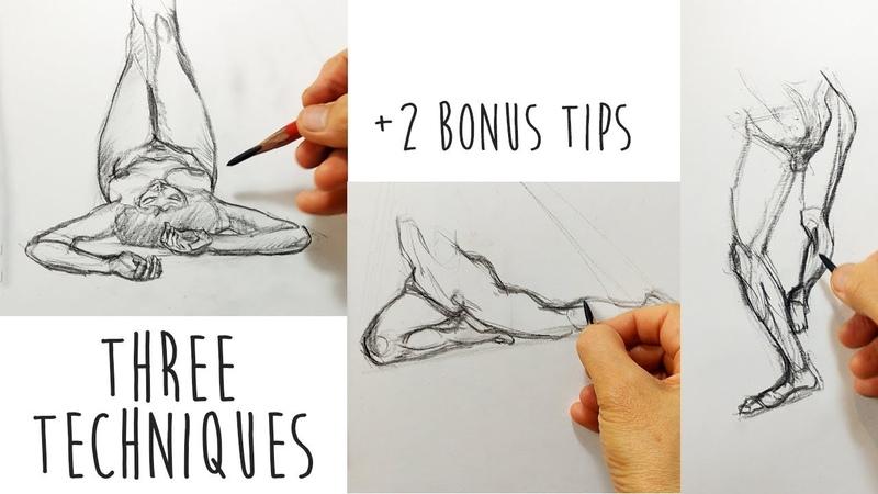 FORESHORTENING (2 of 3) - 3 Techniques 2 bonus tips