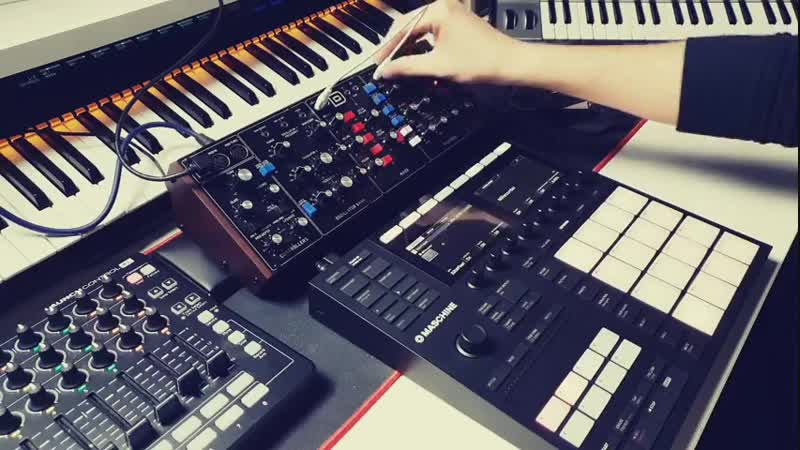ES23 - Native Instruments - Mashine MK3 vs Behringer - Model D
