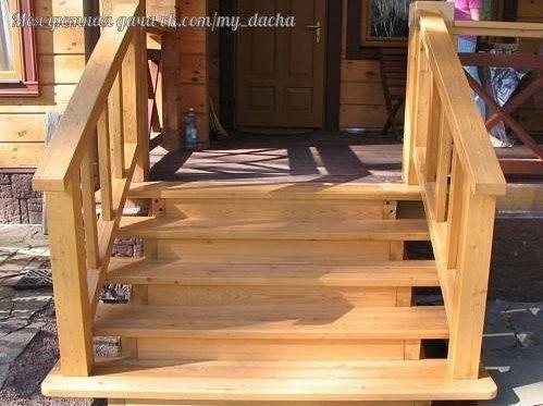 Лестница для террасы  красота своими руками.