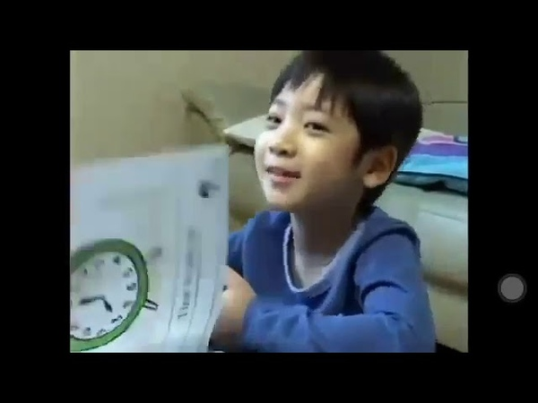 TXT TAEHYUN CF for learning English - when he was 7