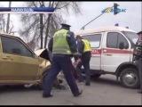 ТК Донбасс - Скорая помощь с пациентом попала в ДТП