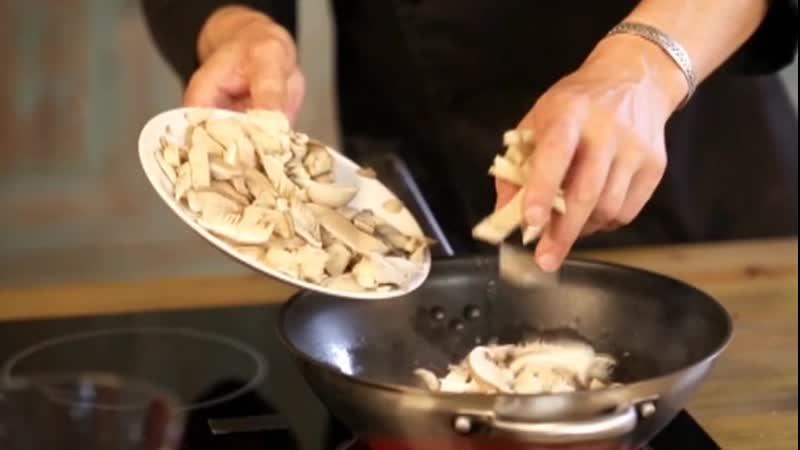 Еда на Домашнем Курица с вешенками