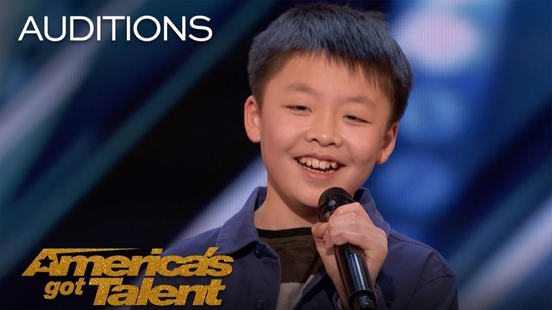 Jeffrey Li 13-Year-Old Sings Incredible Rendition Of You Raise Me Up - Americas Got Talent 2018