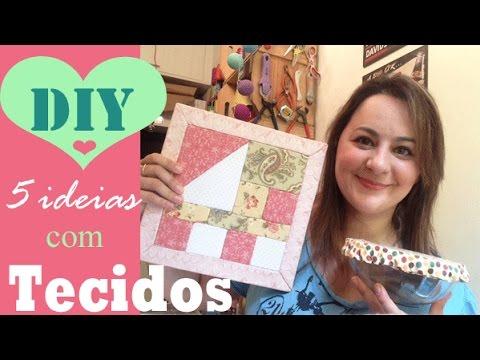5 IDEIAS com RETALHOS DE TECIDOS, coisas fofas para a sua casa! por Camila Camargo