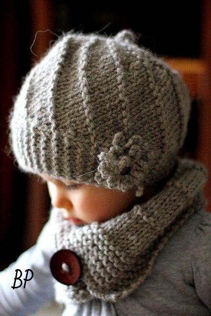 针织女婴帽子和围巾 - maomao - 我随心动
