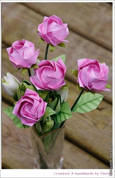 Шикарные розы. Оригами.