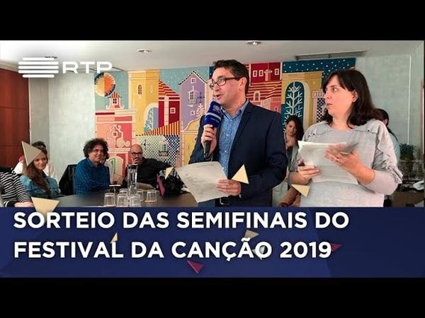 FestivaldaCanção 2019 Sorteio das semifinais RTP