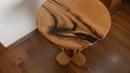 Маленький журнальный столик из массива дуба и эпоксидной смолы