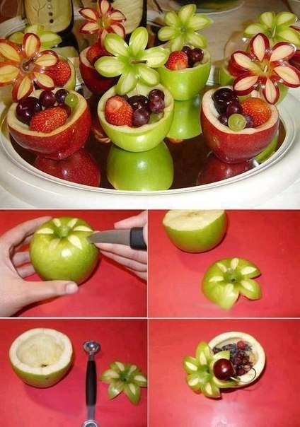 Как вырезать красиво фрукты