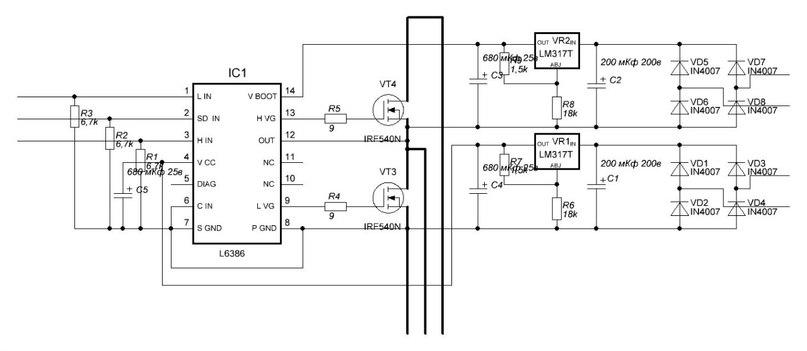 L6386 схема включения