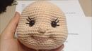Amigurumi bebeklerde yüz şekillendirme / ağız göz çukuru ve burun yapımı