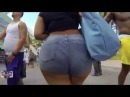 So Sexy Beautiful Big Booty Latina in Tight Jean Shorts