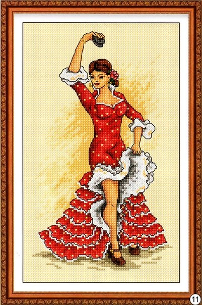 вышивка испанская танцовщица