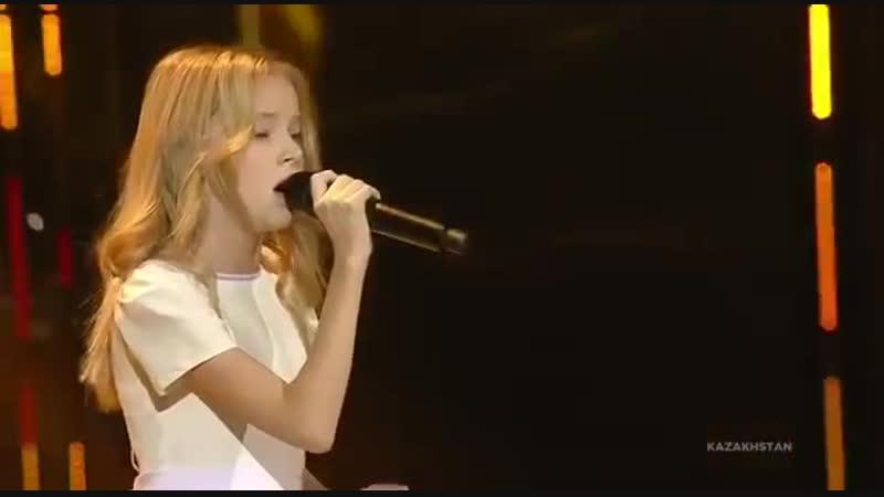 12 летняя певица из Казахстана Данэлия Тулешова заняла 6 ое место на международном конкурсе Детское Евровидение