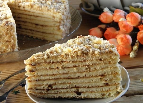 Готовим быстрый тортик на сковoроде со сгущенкoй
