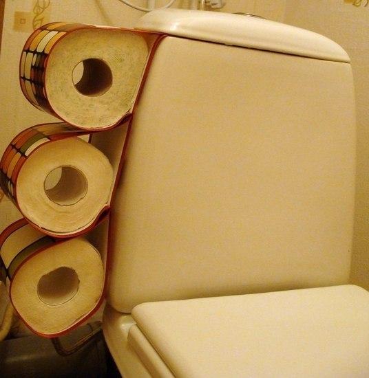 Как сделать в туалете держатель для бумаги
