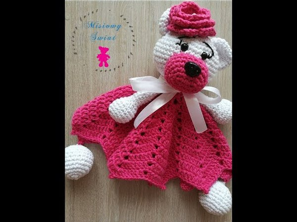 🐻 Kocyk z misiem dla dziecka na szydełku - Crochet lovely baby blanket with bear- PART 1-2